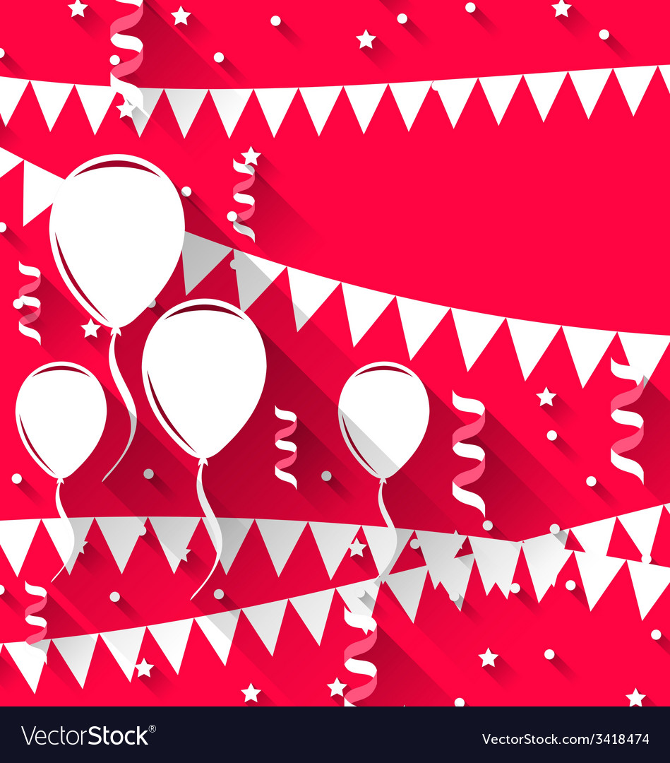 Happy birthday background with balloons and vector | Price: 1 Credit (USD $1)
