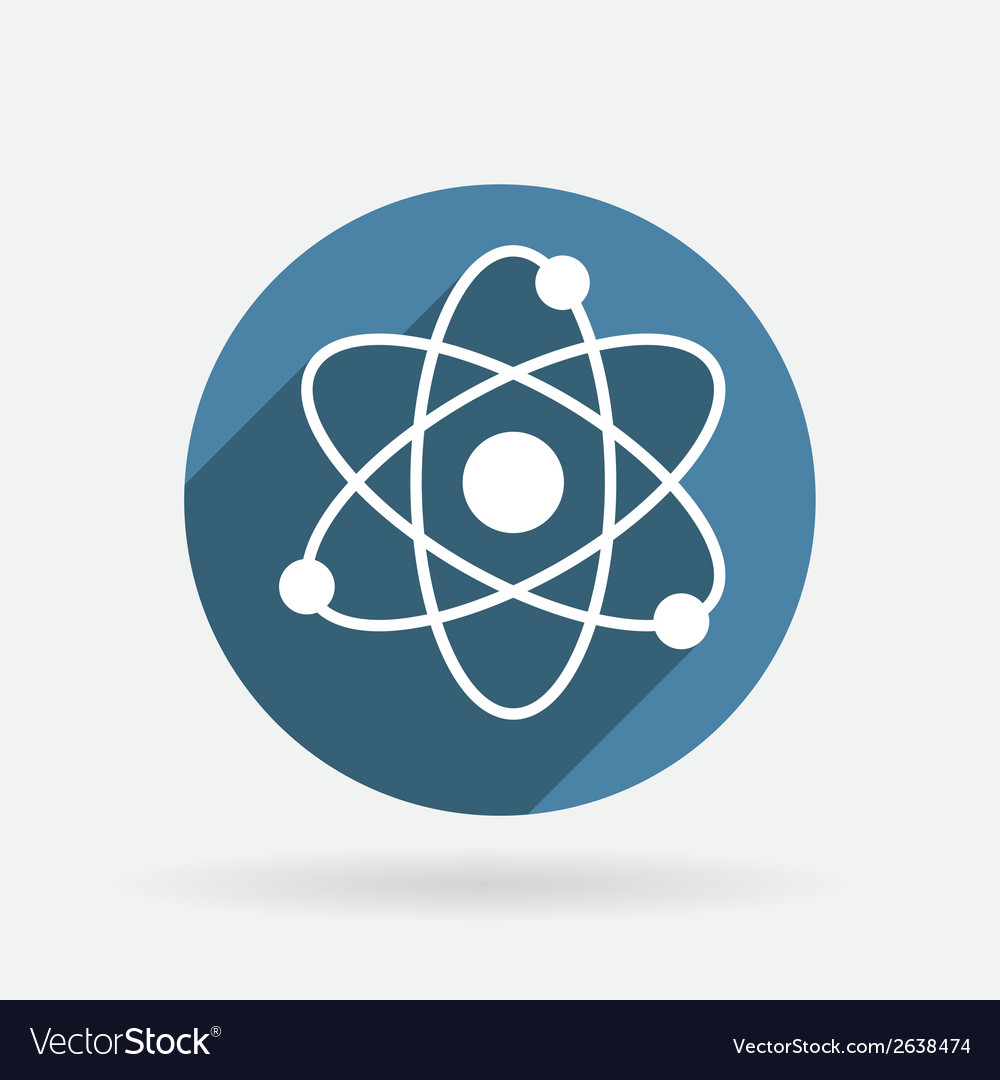 Molecule circle blue icon with shadow vector | Price: 1 Credit (USD $1)