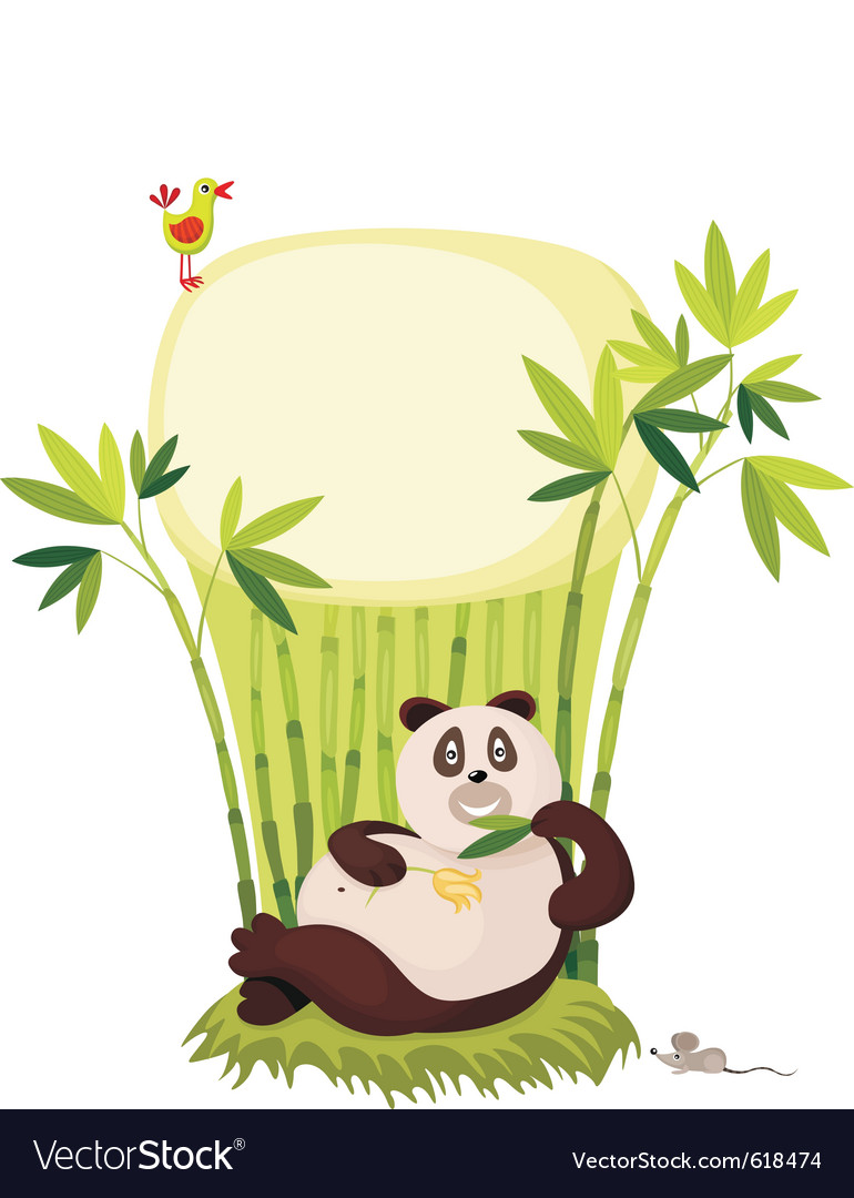 Panda cartoon vector | Price: 3 Credit (USD $3)