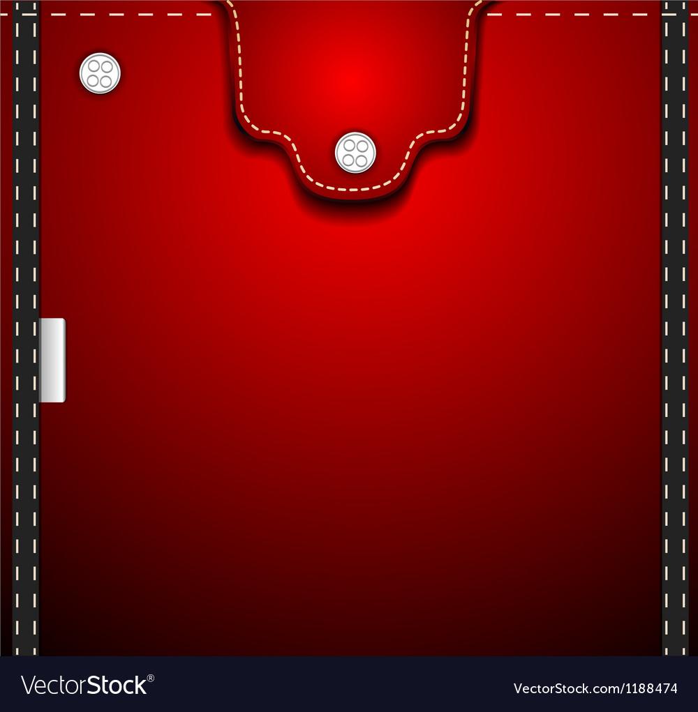 Red denim pocket vector | Price: 1 Credit (USD $1)
