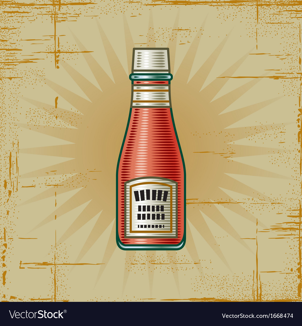 Retro ketchup bottle vector | Price: 1 Credit (USD $1)