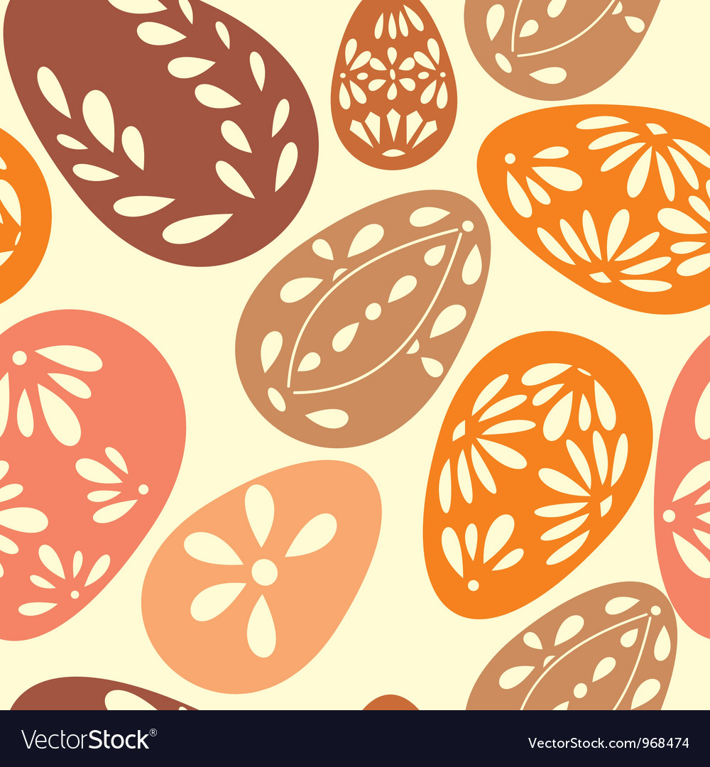 Seamless spring pattern with floral easter eggs vector | Price: 1 Credit (USD $1)