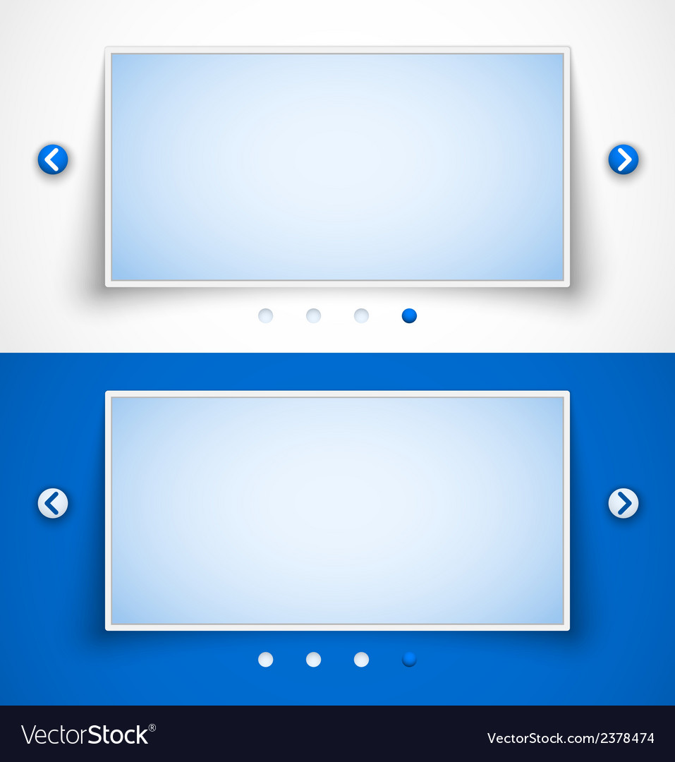 Set of web image sliders vector | Price: 1 Credit (USD $1)