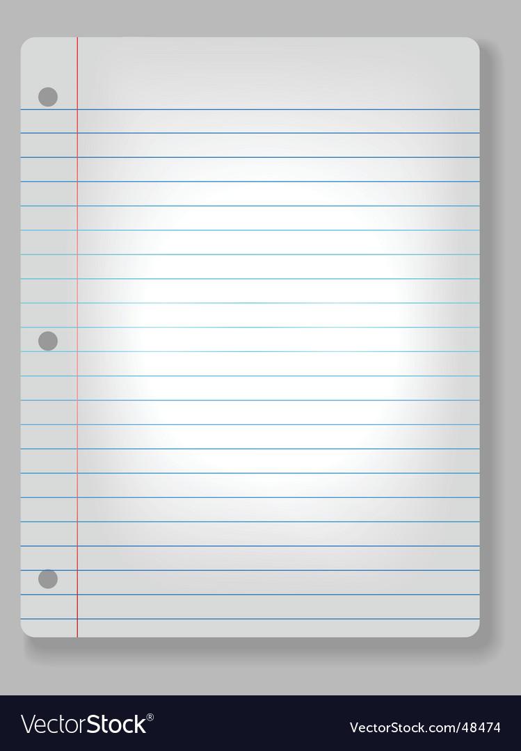 Spotlight notebook paper vector | Price: 1 Credit (USD $1)
