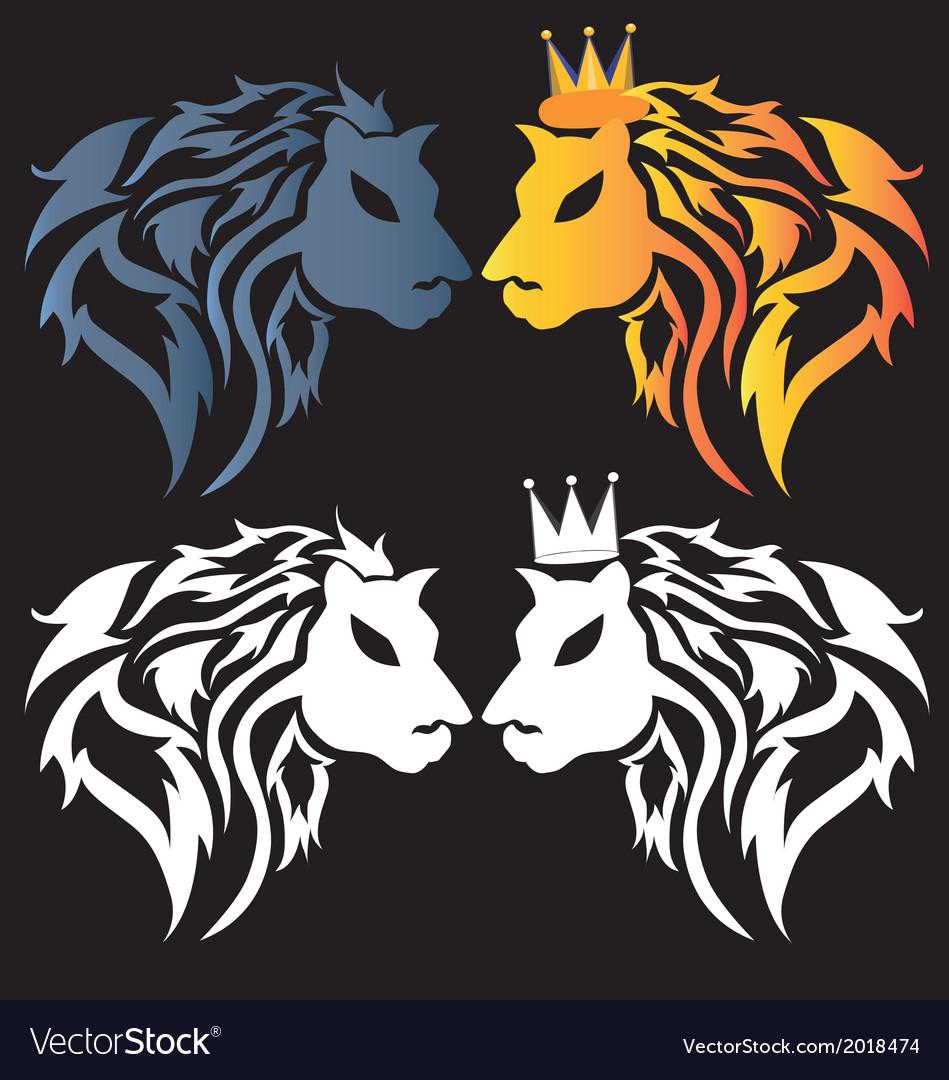 Stolen lion tribal predators vector | Price: 1 Credit (USD $1)