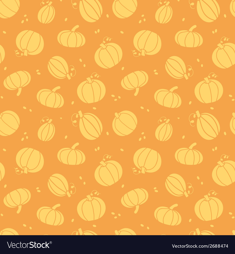 Thanksgiving golden pumpkins seamless pattern vector | Price: 1 Credit (USD $1)