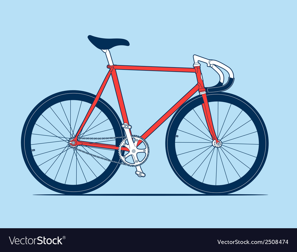 Track bike vector | Price: 1 Credit (USD $1)