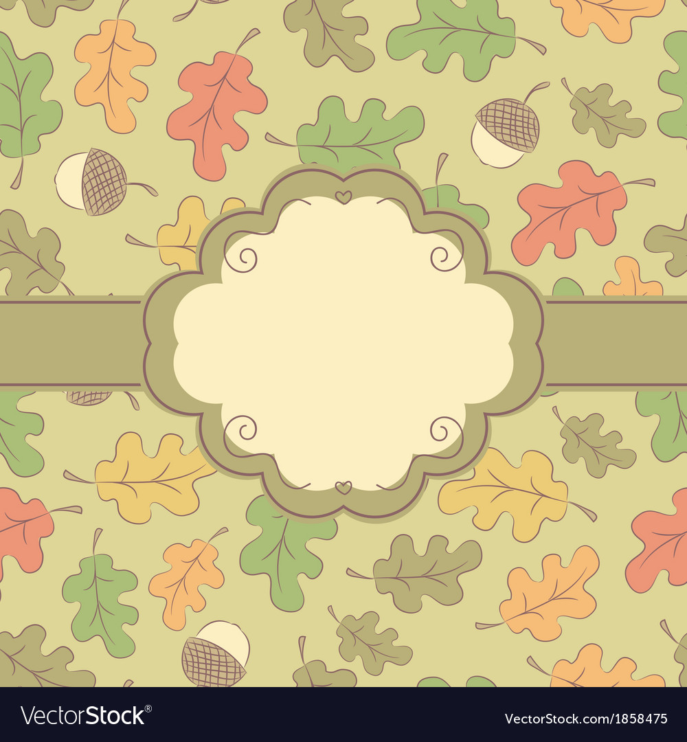 Autumn seamless pattern with label vector | Price: 1 Credit (USD $1)