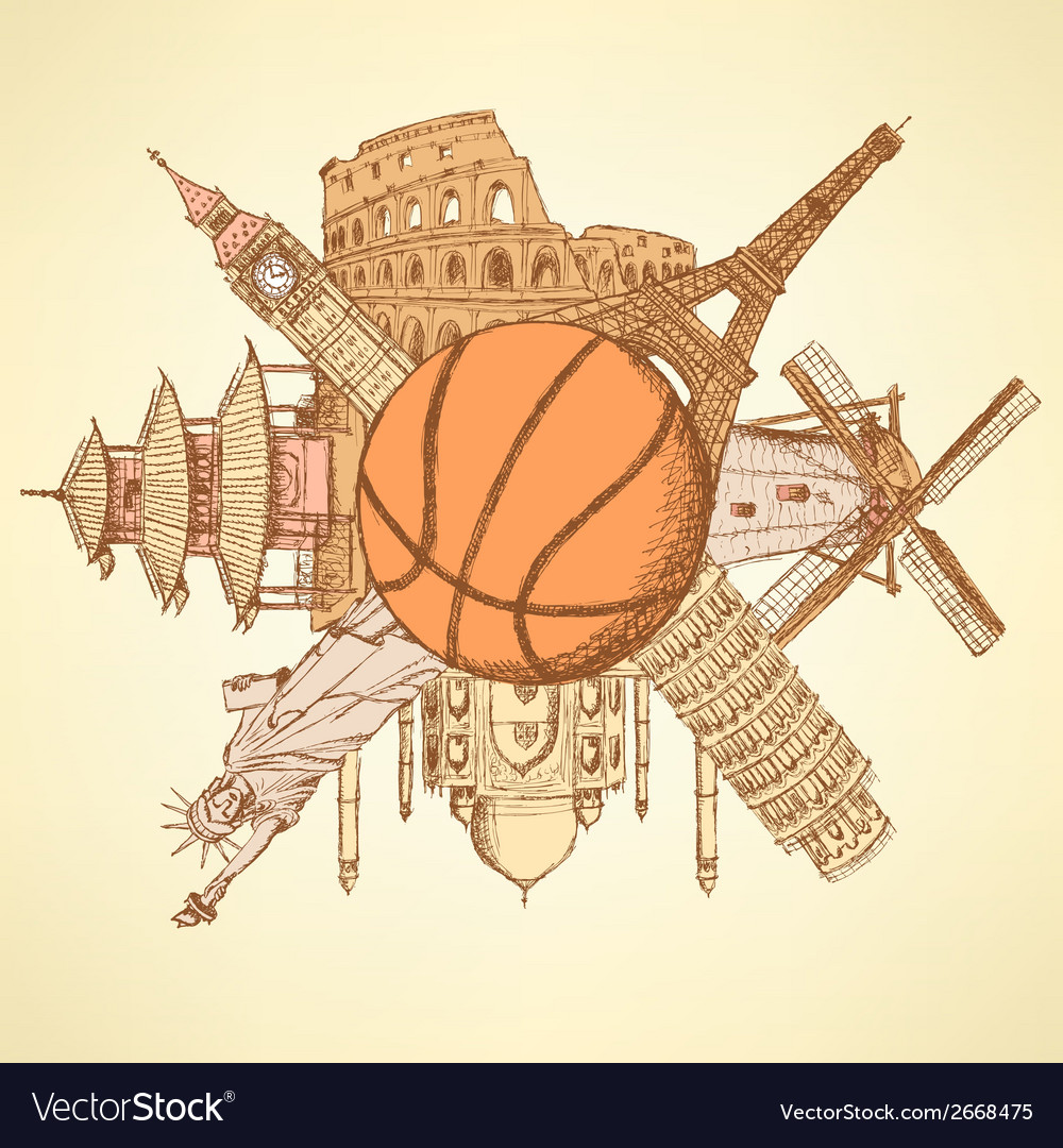 Basket ball buildings vector | Price: 1 Credit (USD $1)