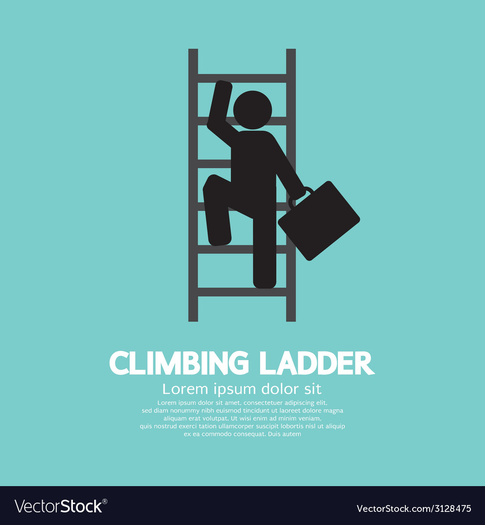 Businessman climbing ladder vector | Price: 1 Credit (USD $1)