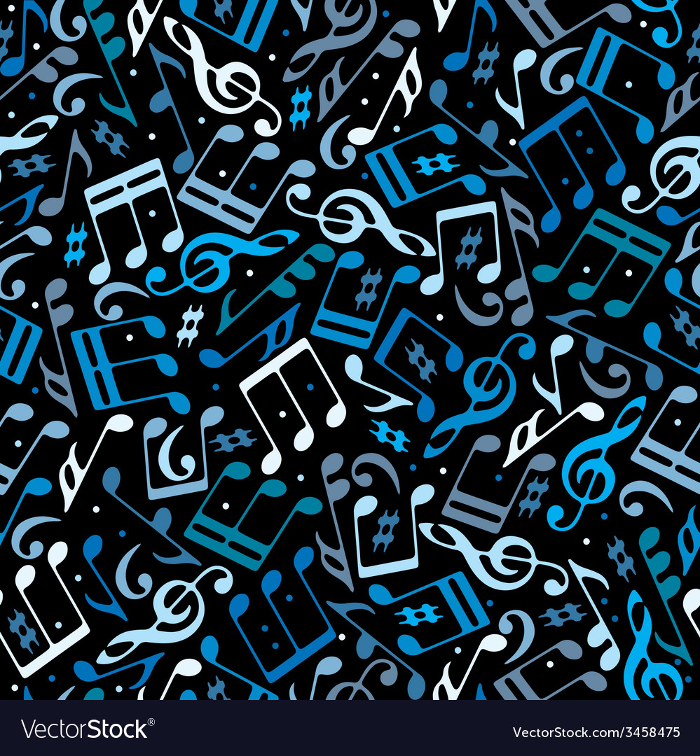 Colorful dotted music seamless pattern with vector | Price: 1 Credit (USD $1)