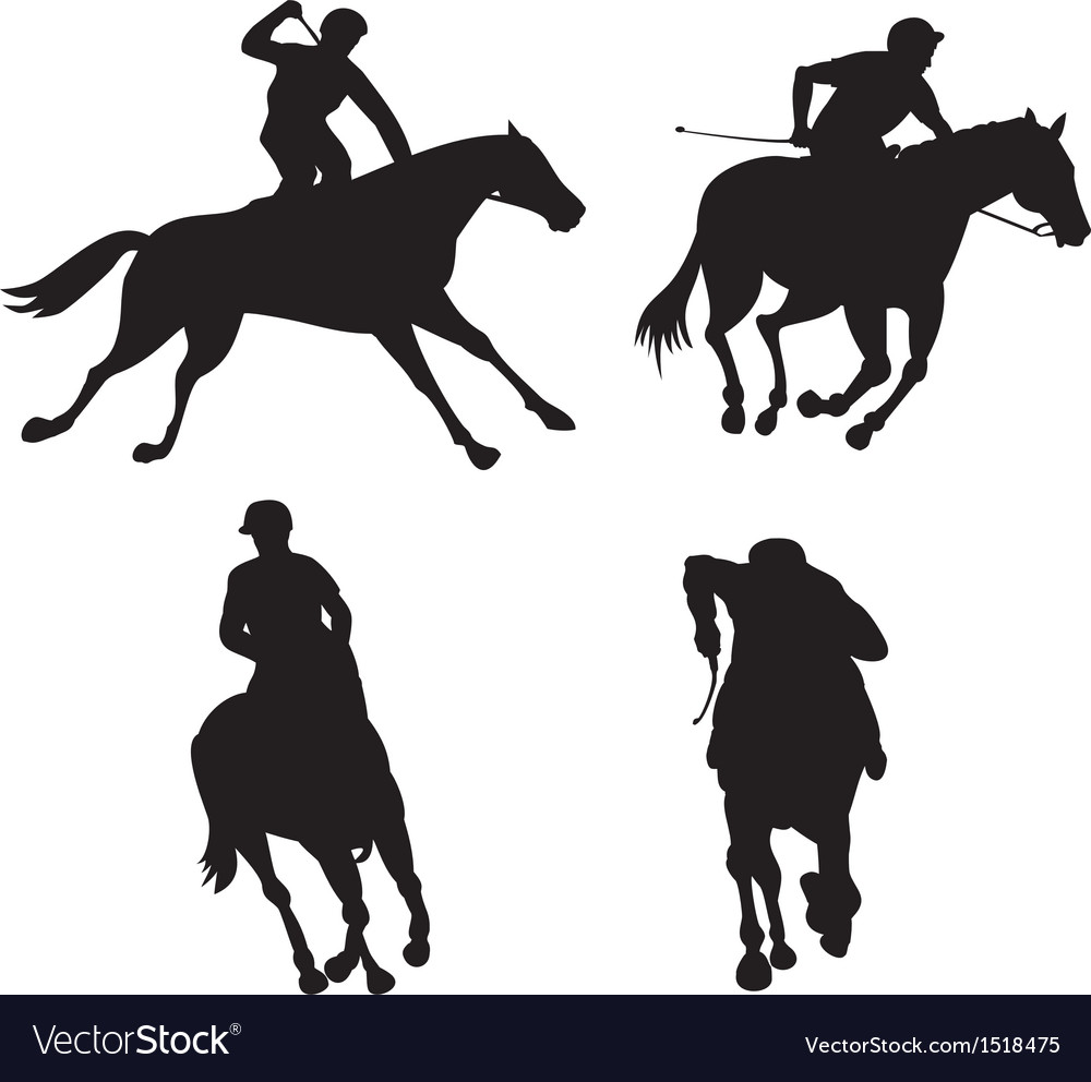 Equestrian show silhouette vector | Price: 1 Credit (USD $1)