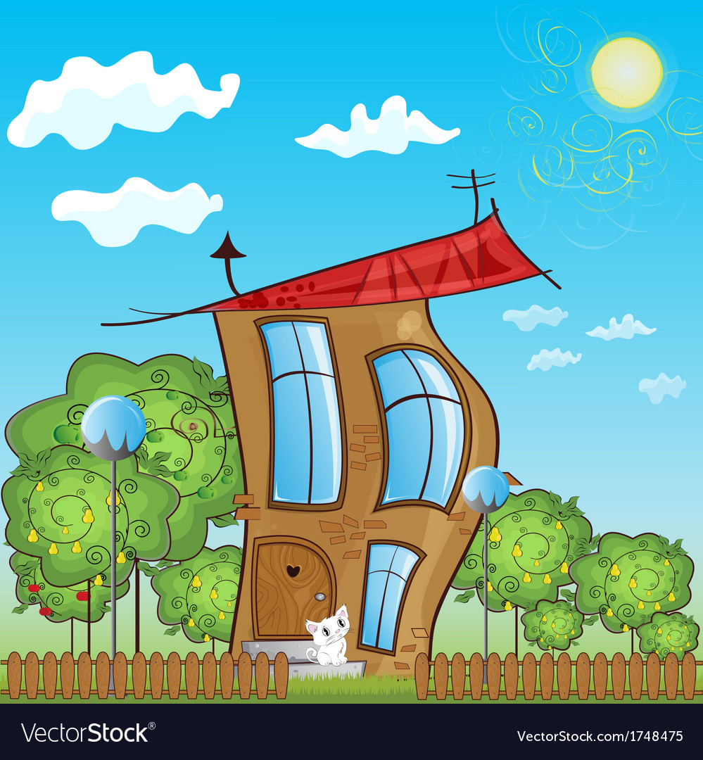 Fabulous house vector | Price: 1 Credit (USD $1)