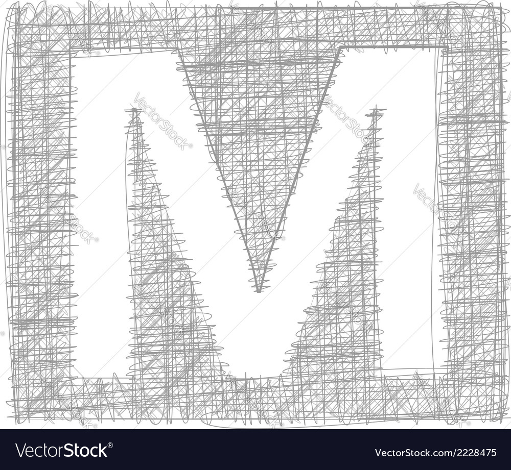 Freehand typography letter m vector | Price: 1 Credit (USD $1)