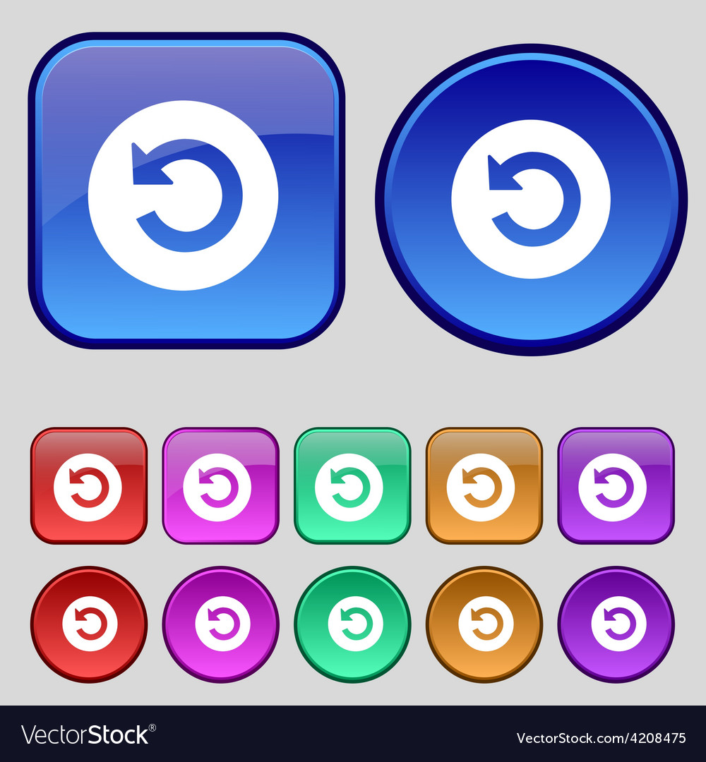 Icon sign a set of twelve vintage buttons for your vector | Price: 1 Credit (USD $1)