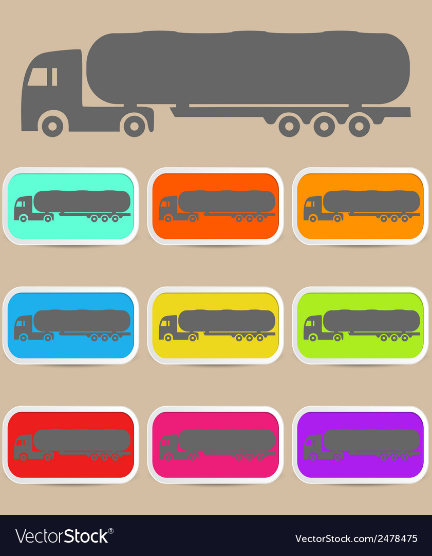 Icon trucks with tanks vector | Price: 1 Credit (USD $1)
