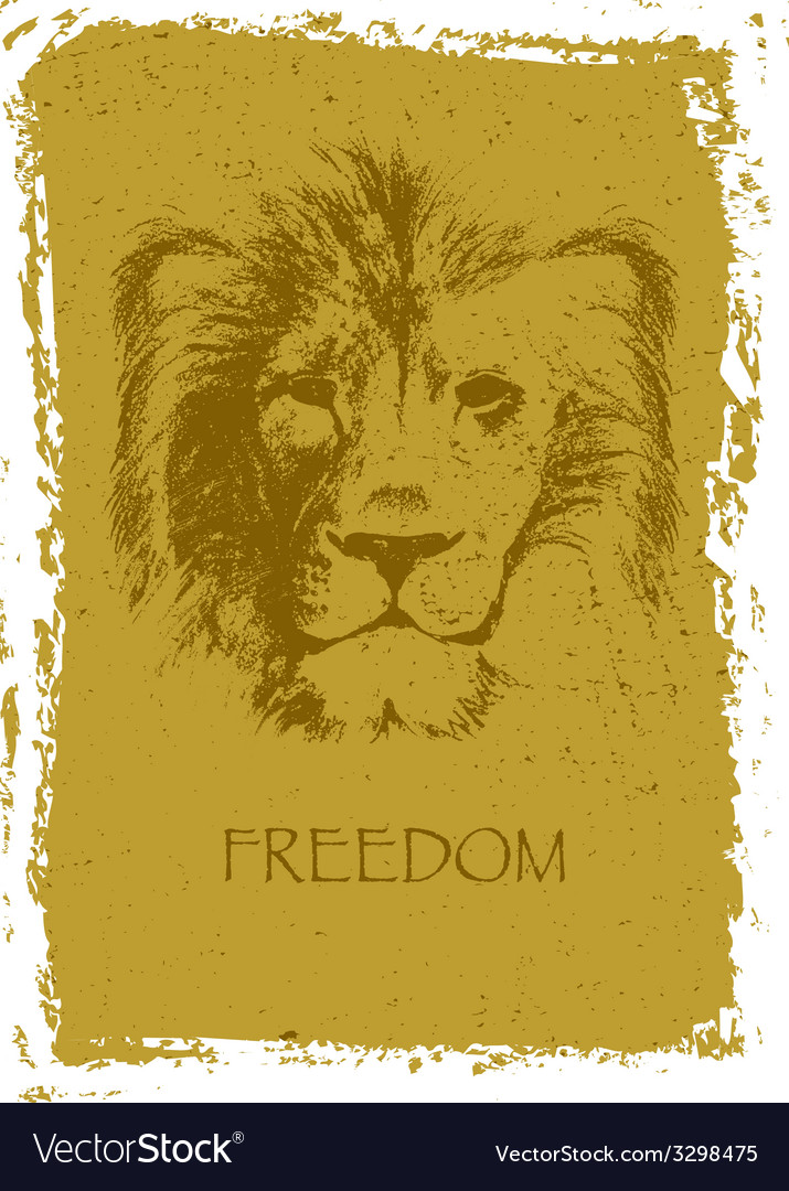 Lion head hand drawn vector   Price: 3 Credit (USD $3)