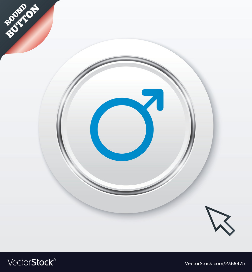 Male sign icon male sex button vector | Price: 1 Credit (USD $1)
