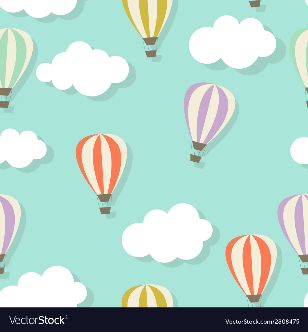 Retro seamless pattern with air balloons vector | Price: 1 Credit (USD $1)