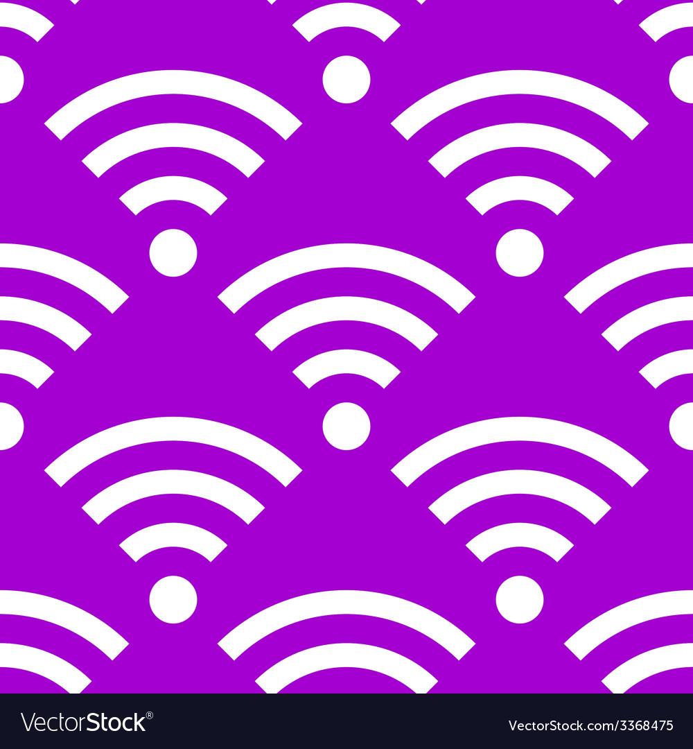 Wi-fi web icon flat design seamless gray pattern vector   Price: 1 Credit (USD $1)