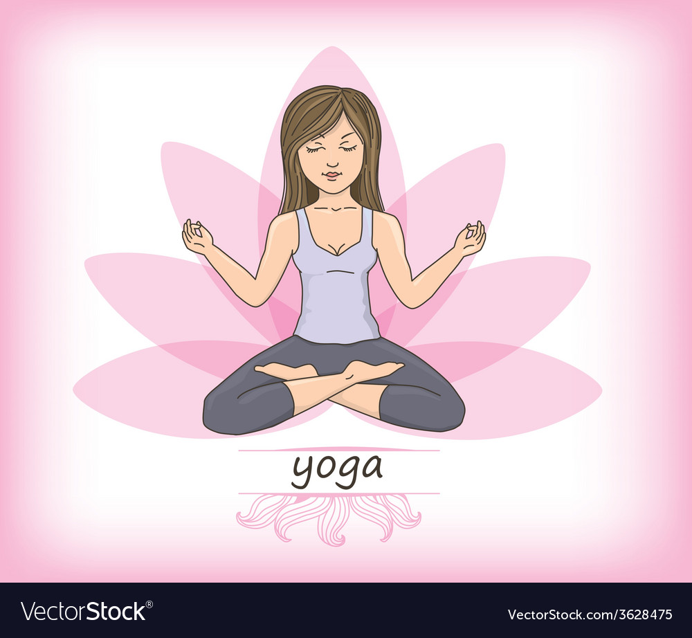 Zen yoga vector | Price: 1 Credit (USD $1)
