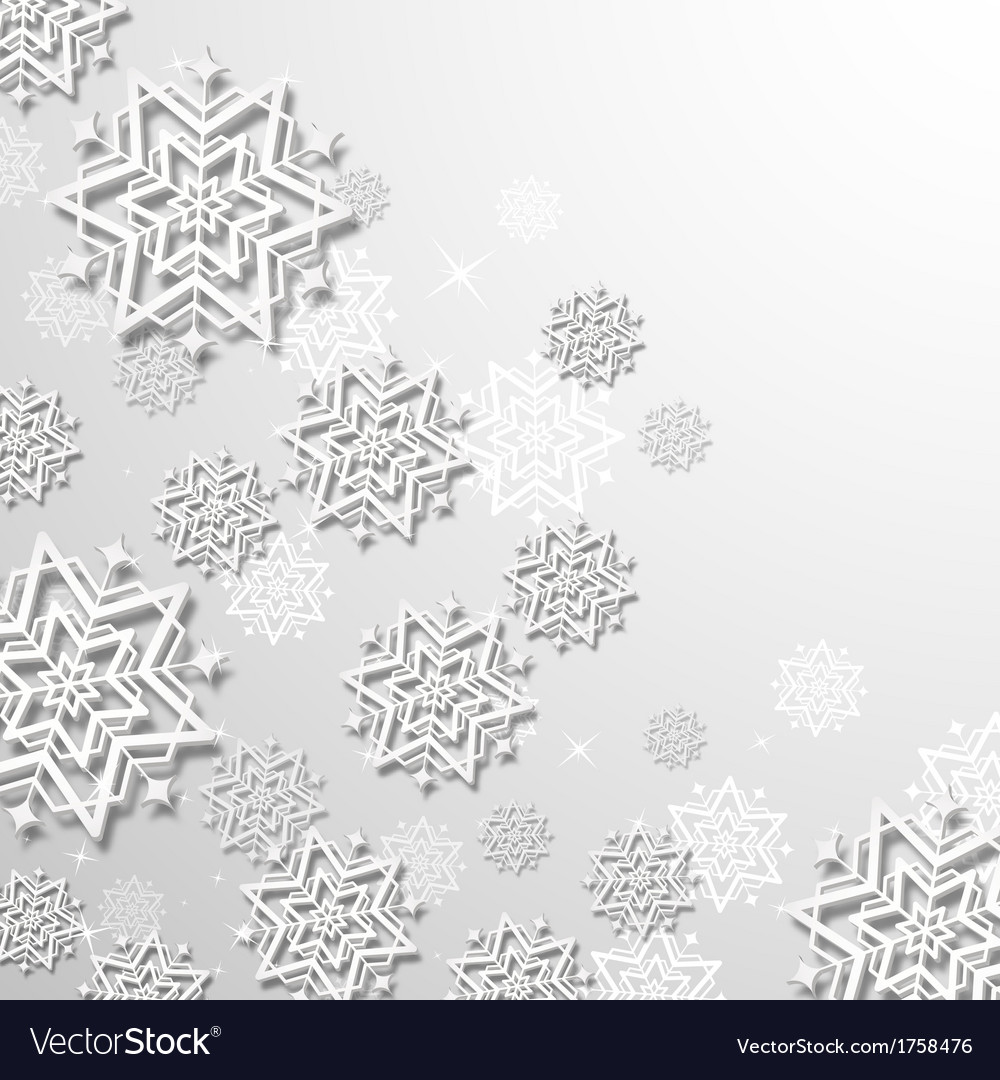 3d snowflakes in christmas background vector | Price: 1 Credit (USD $1)