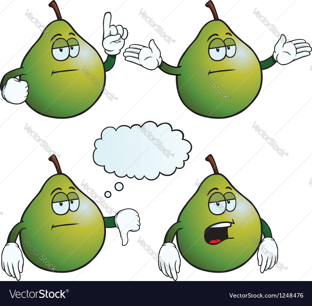 Bored pear set vector | Price: 1 Credit (USD $1)