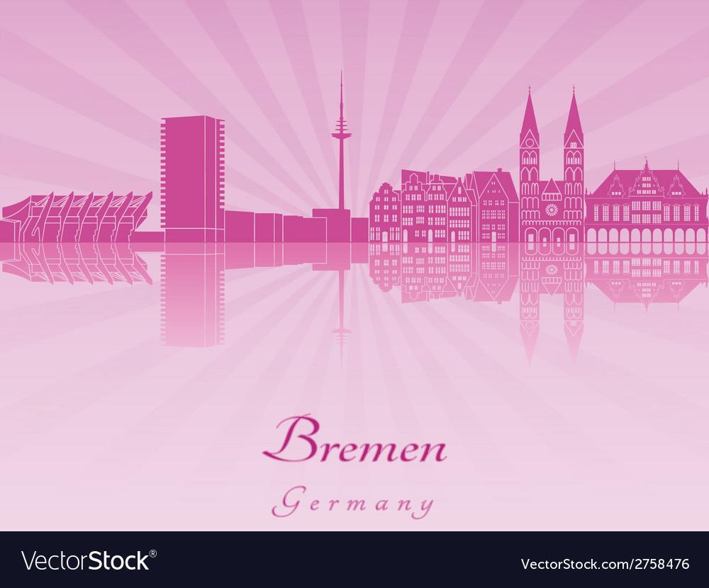 Bremen skyline in radiant orchid vector | Price: 1 Credit (USD $1)