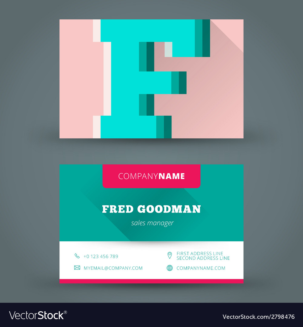 Business card design template background vector | Price: 1 Credit (USD $1)