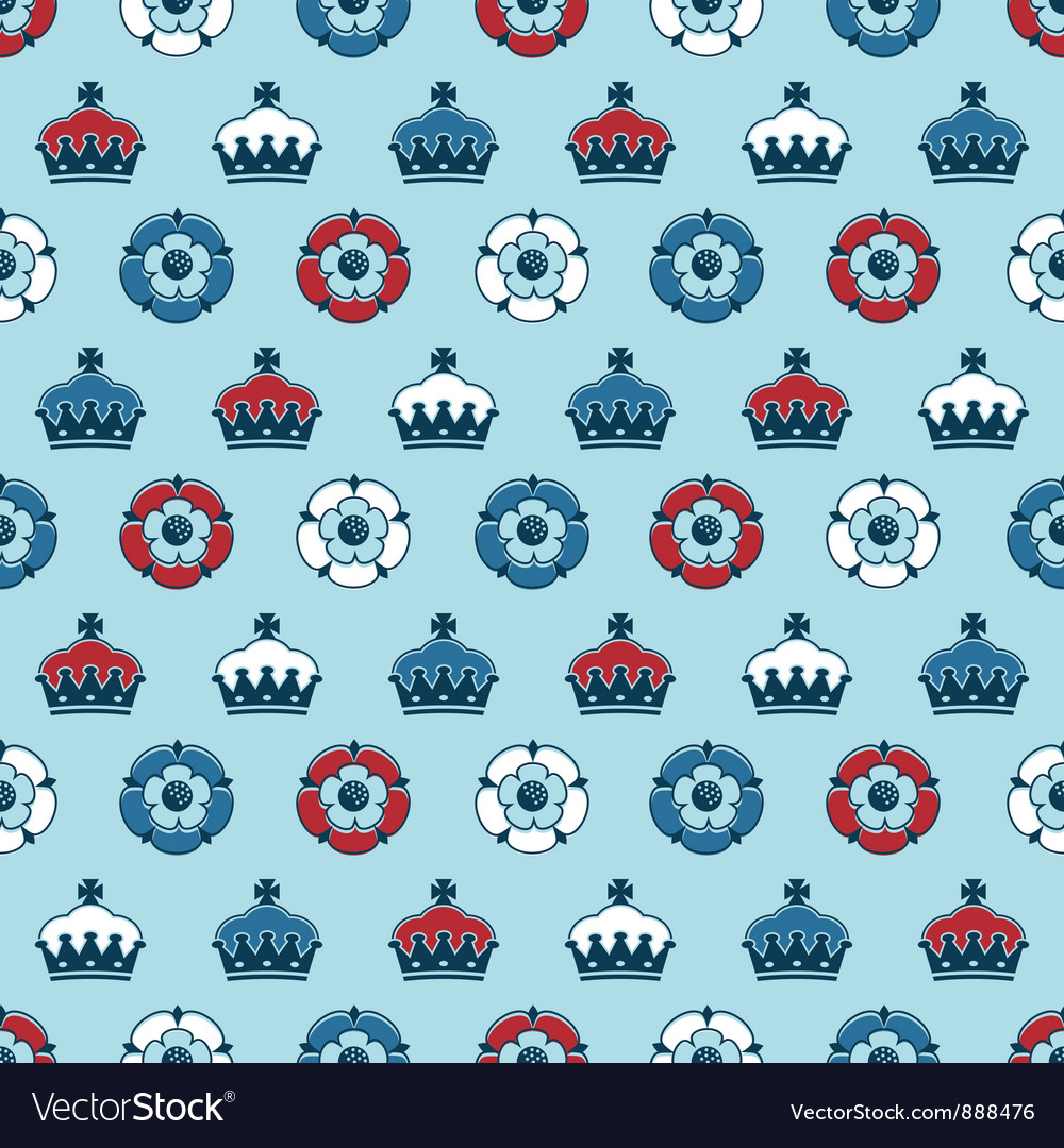 Crowns and roses pattern vector | Price: 1 Credit (USD $1)