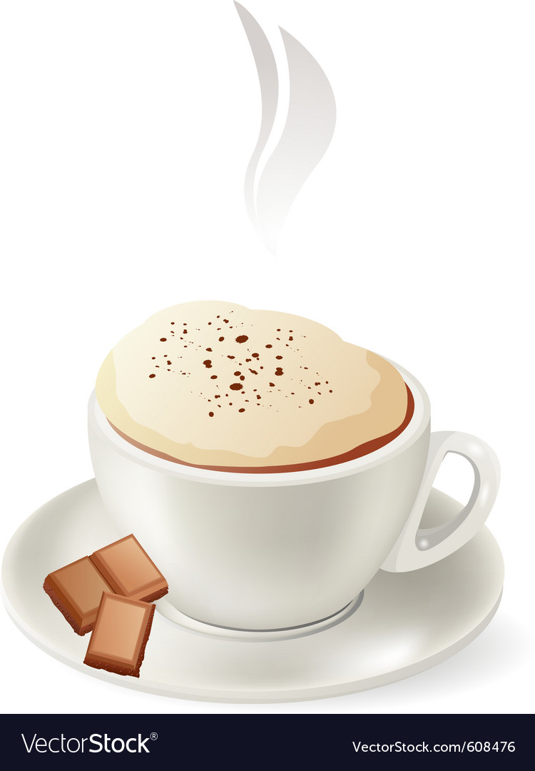 Cup of hot cappuccino vector | Price: 1 Credit (USD $1)