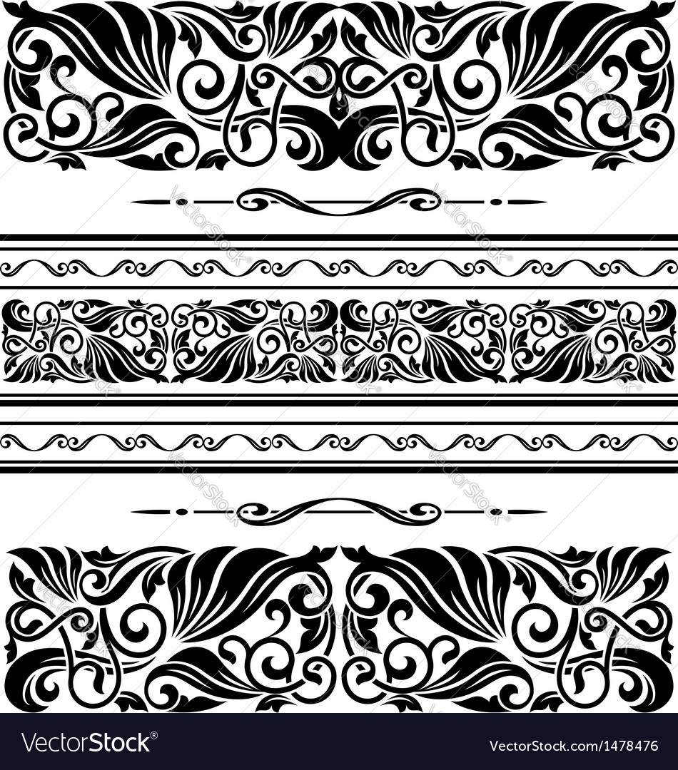 Decorative ornaments and patterns vector | Price: 1 Credit (USD $1)