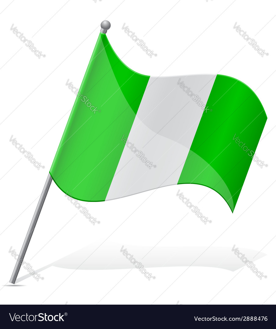Flag of nigeria vector | Price: 1 Credit (USD $1)