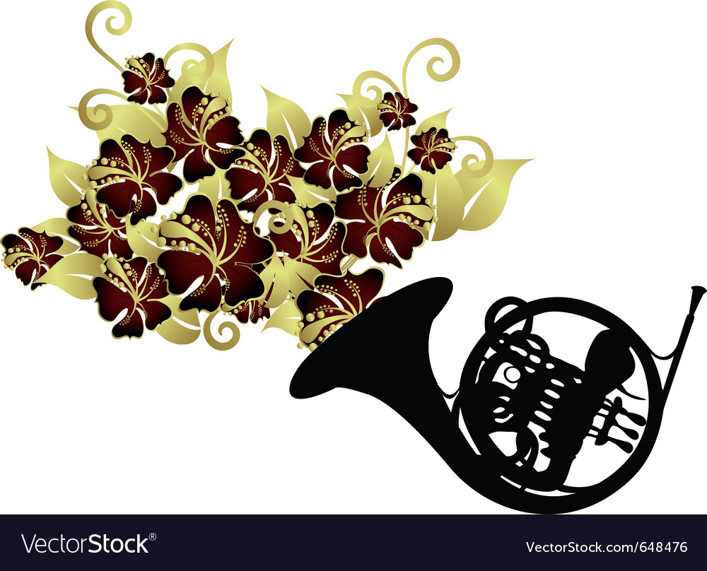 French horn instrument vector | Price: 1 Credit (USD $1)