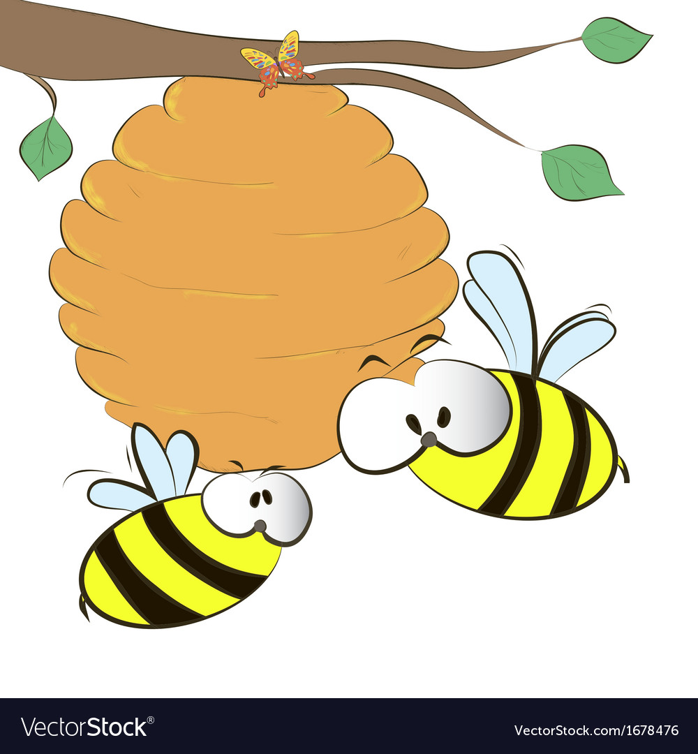 Hive on branch vector | Price: 1 Credit (USD $1)