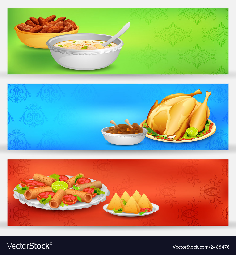 Iftar party banner vector | Price: 1 Credit (USD $1)