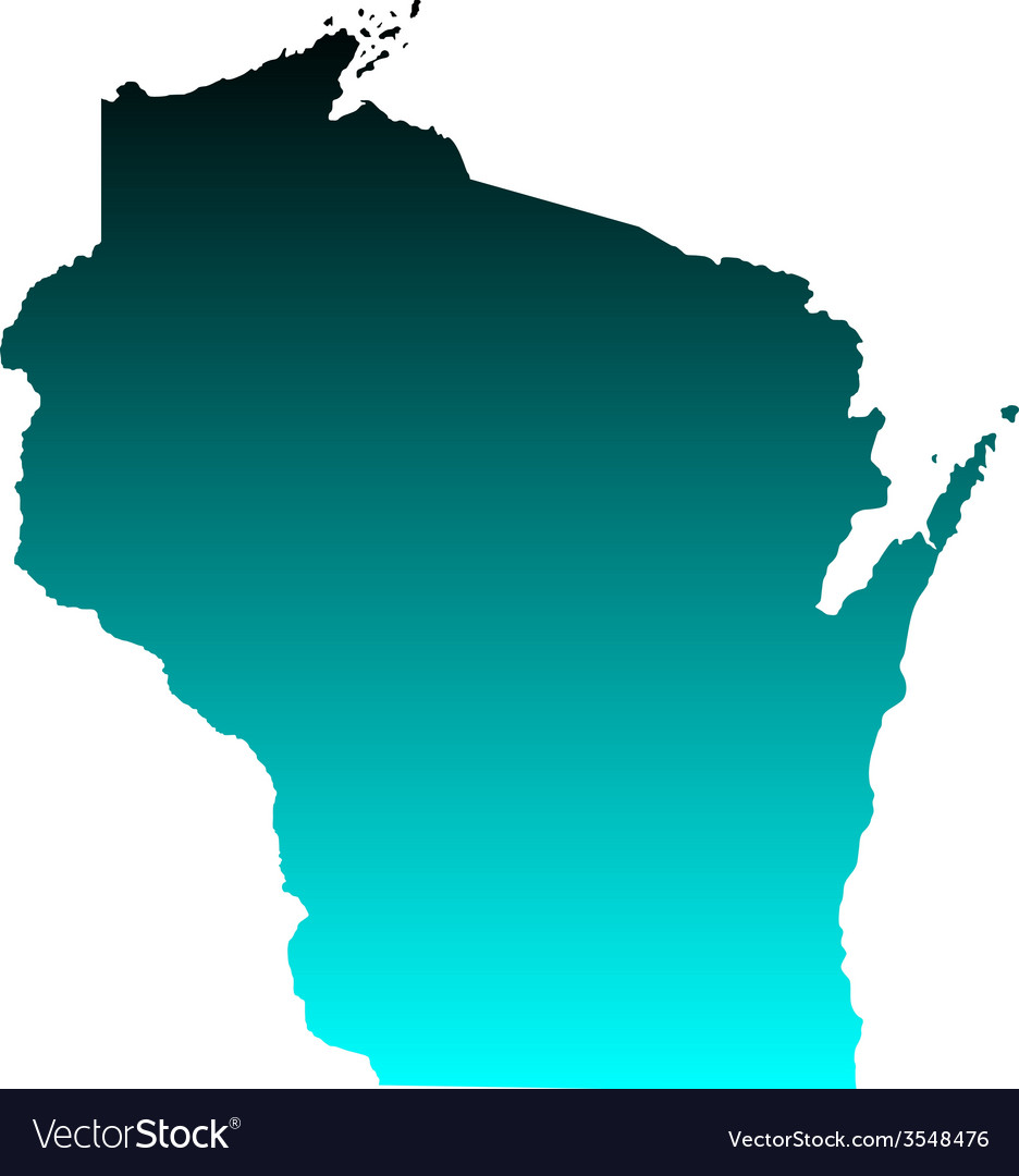 Map of wisconsin vector | Price: 1 Credit (USD $1)