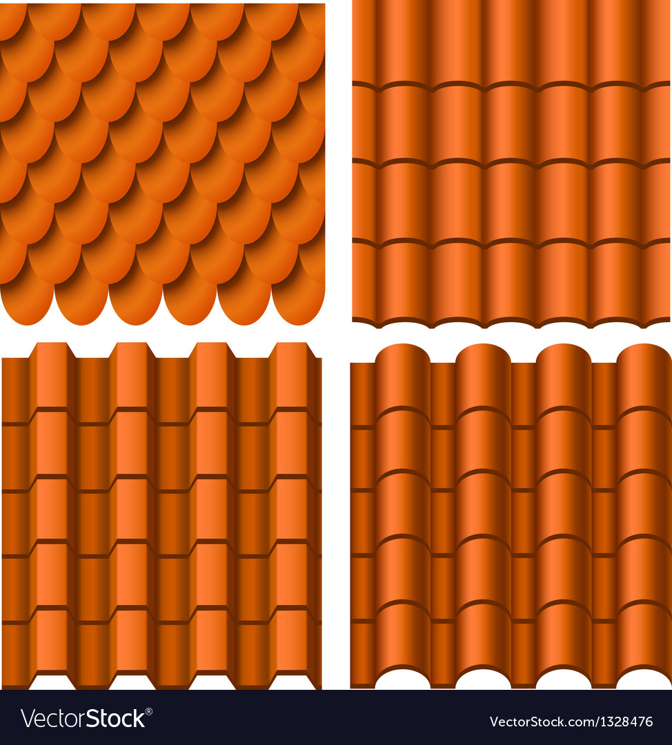 Roof pattern set vector | Price: 1 Credit (USD $1)