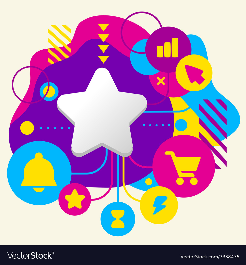 Star on abstract colorful spotted background with vector | Price: 3 Credit (USD $3)