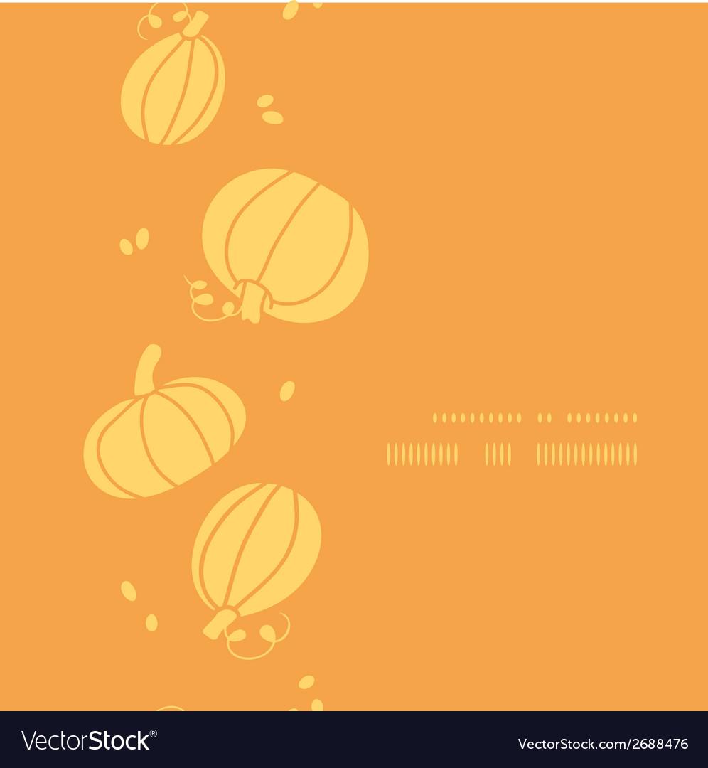 Thanksgiving golden pumpkins vertical frame vector | Price: 1 Credit (USD $1)