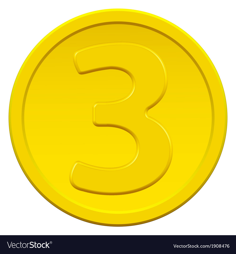 Three coin vector | Price: 1 Credit (USD $1)