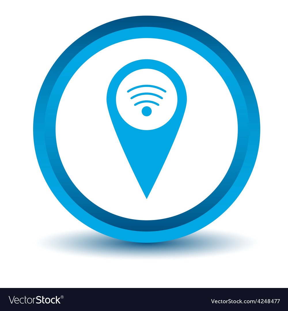 Blue wi-fi pointer icon vector | Price: 1 Credit (USD $1)