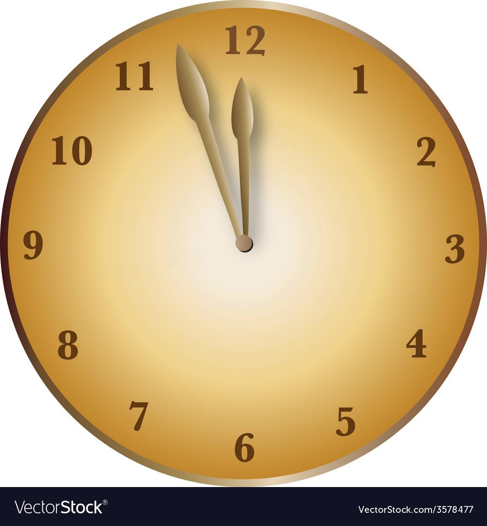 Bronze clock vector | Price: 1 Credit (USD $1)