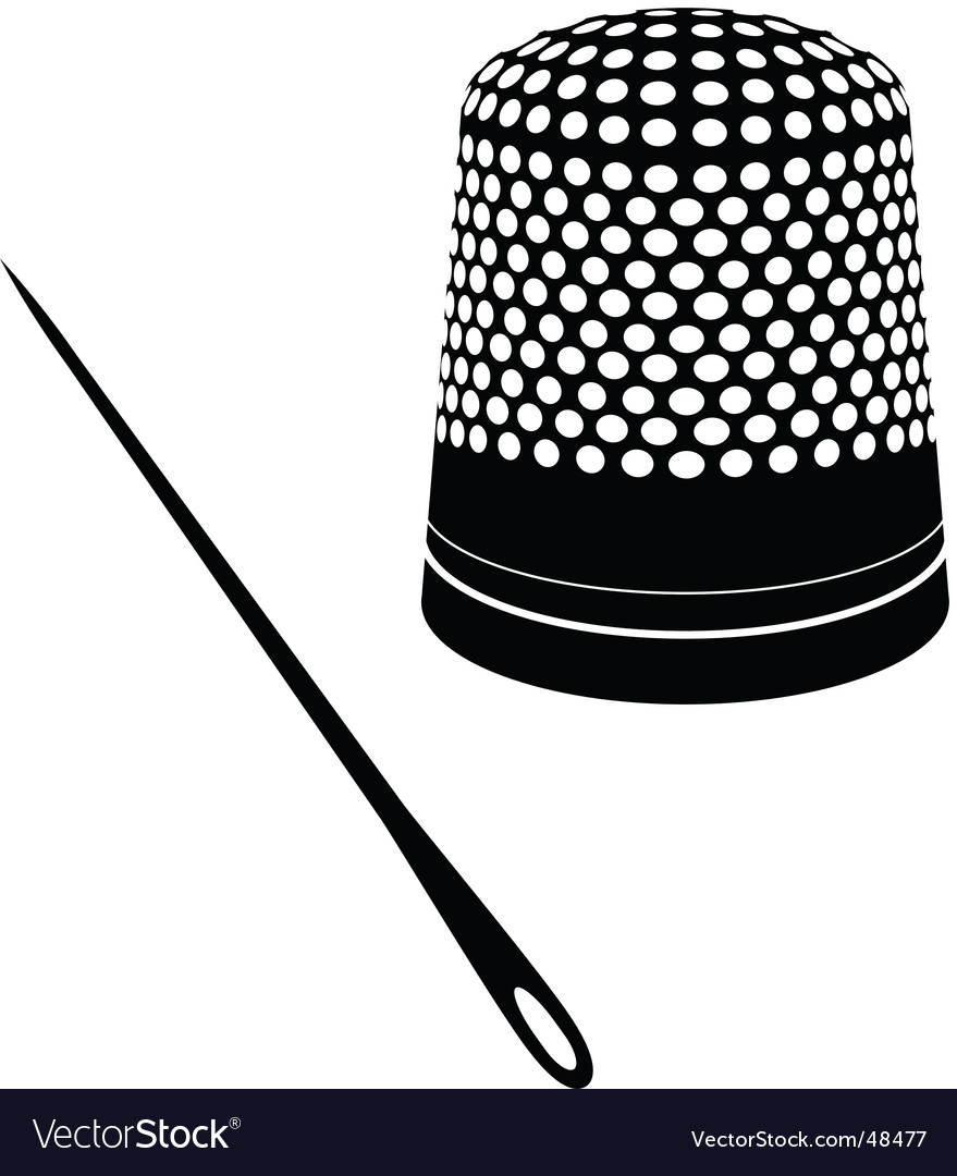 Cute thimble and needle vector | Price: 1 Credit (USD $1)