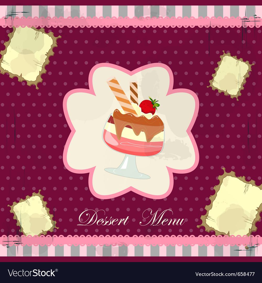 Desert menu vector | Price: 1 Credit (USD $1)