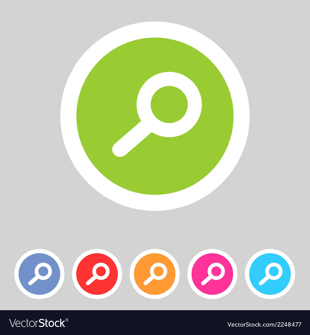 Flat game graphics icon zoom vector | Price: 1 Credit (USD $1)