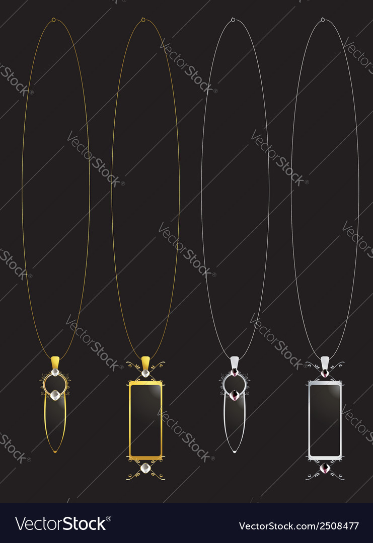 Gold and silver elegant necklaces vector | Price: 1 Credit (USD $1)