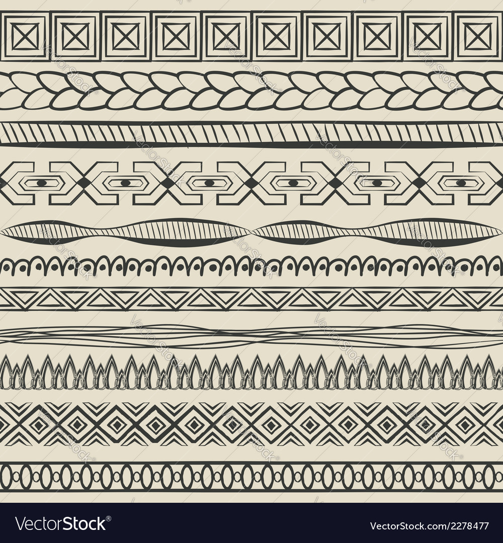 Hand-drawn lines set vector | Price: 1 Credit (USD $1)