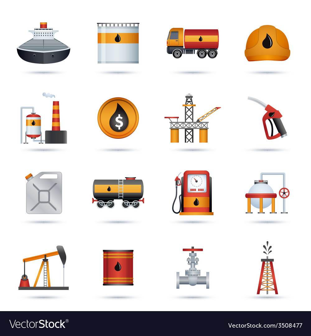 Oil industry icons vector | Price: 1 Credit (USD $1)