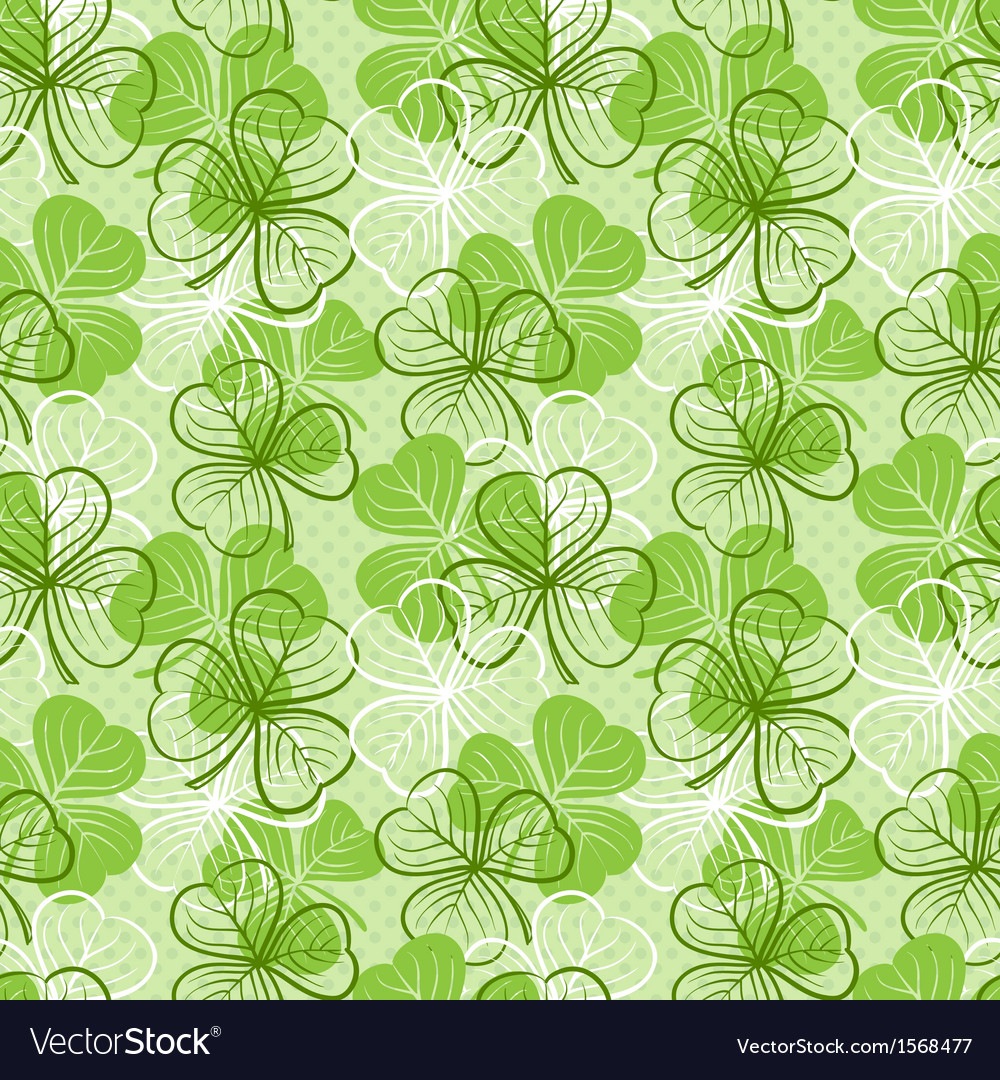 Seamless pattern with clover vector | Price: 1 Credit (USD $1)